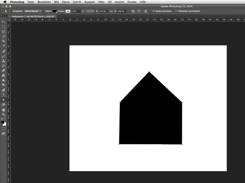 Um Nun Dem Haus Noch Eine Tür Und Fenster Zu Verleihen Wählt Man Formen  Kombinieren Und Zeichnet Eine Weitere Form.