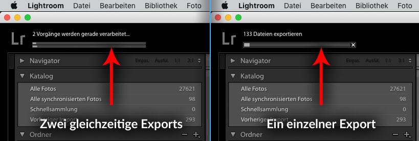 Lightroom mehrere Exports