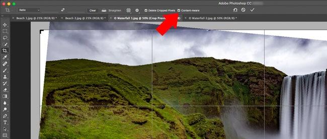 Photoshop Content-Aware Crop Tool