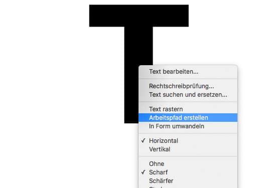 Photoshop Tutorial Texteffekt Arbeitspfad erstellen