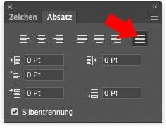 Photoshop Tutorial Texteffekt Blocksatz