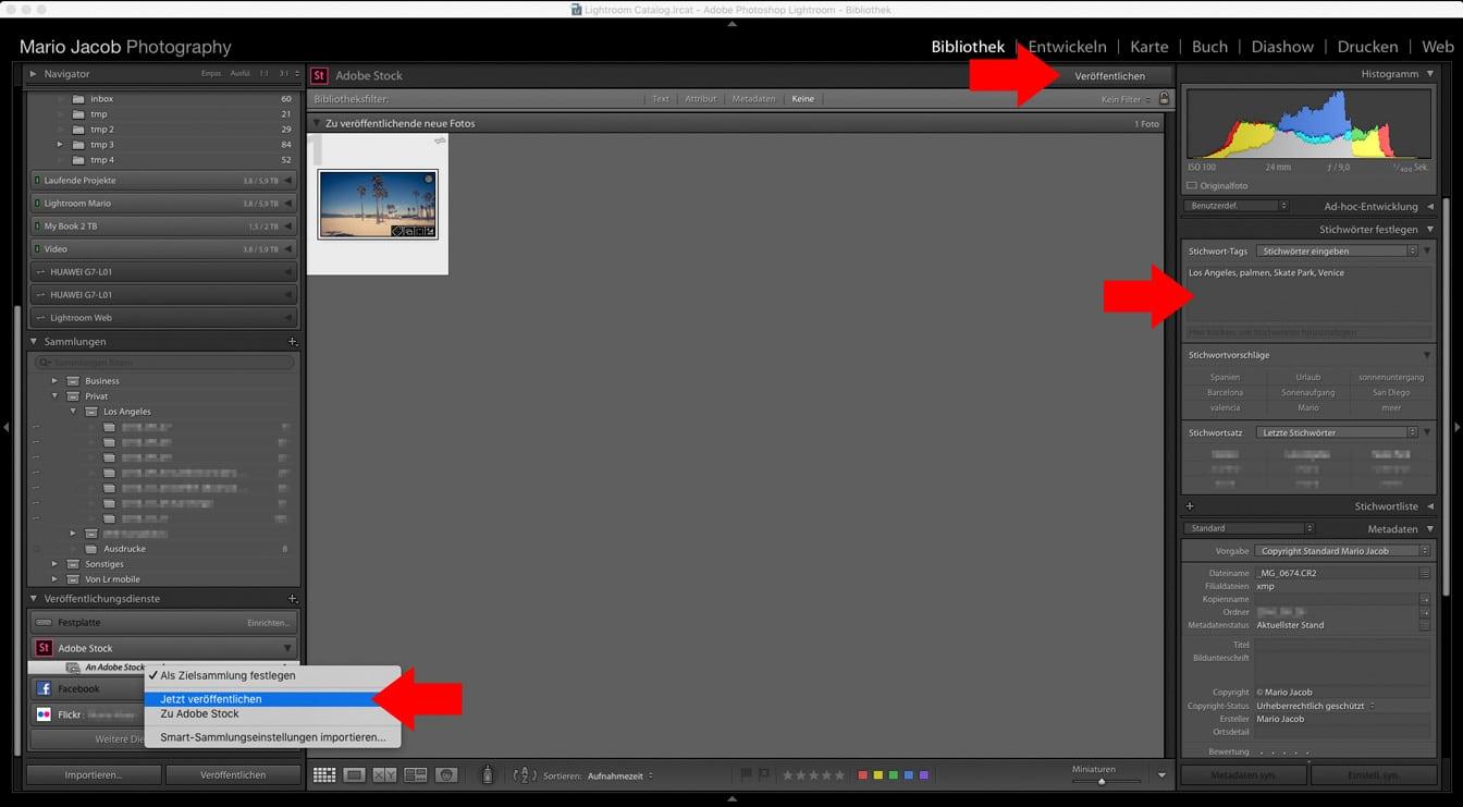 von Lightroom zu Adobe Stock veröffentlichen