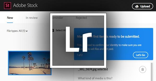 Von Lightroom zu Adobe Stock hochladen