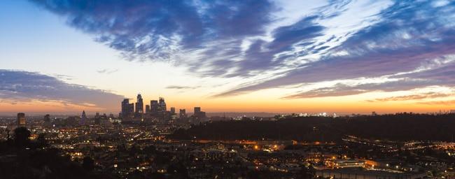 Los Angeles Panorama blaue Stunde