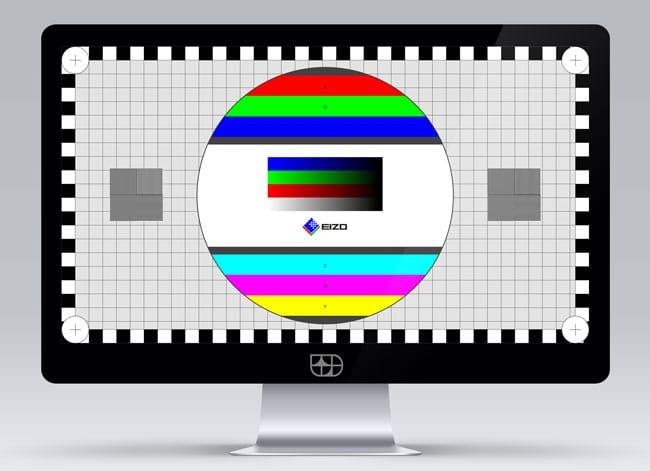 EIZO Monitortest im Browser