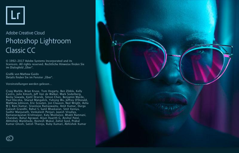 Adobe Lightroom Classic CC start