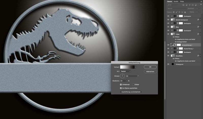 Jurassic World Photoshop Tutorial Lichtschein
