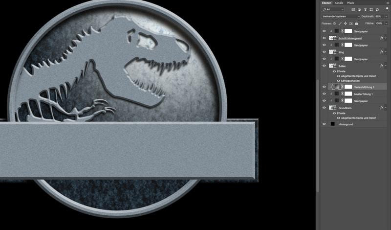Jurassic World Photoshop Tutorial Lichtschein 2