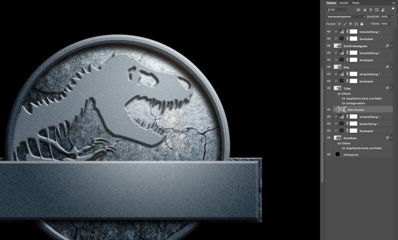 Jurassic World Photoshop Tutorial Stein Textur