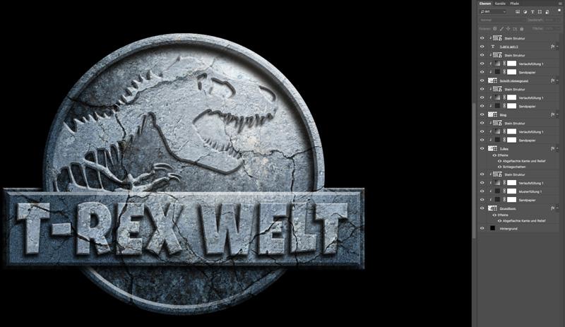 Jurassic World Photoshop Tutorial Smartobjekt