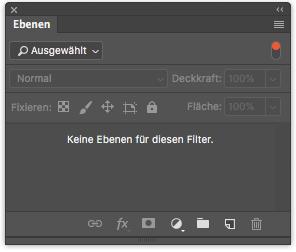 Photoshop Ebenenfenster Ebenenfilter Filtertyp Ausgewählt