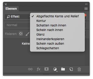 Photoshop Ebenenfenster Ebenenfilter Filtertyp Effekt