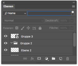 Photoshop Ebenenfenster Ebenenfilter Filtertyp Name