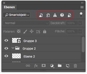 Photoshop Ebenenfenster Ebenenfilter Filtertyp Smartobjekt