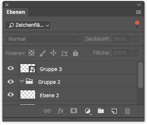 Photoshop Ebenenfenster Ebenenfilter Filtertyp Zeichenfläche