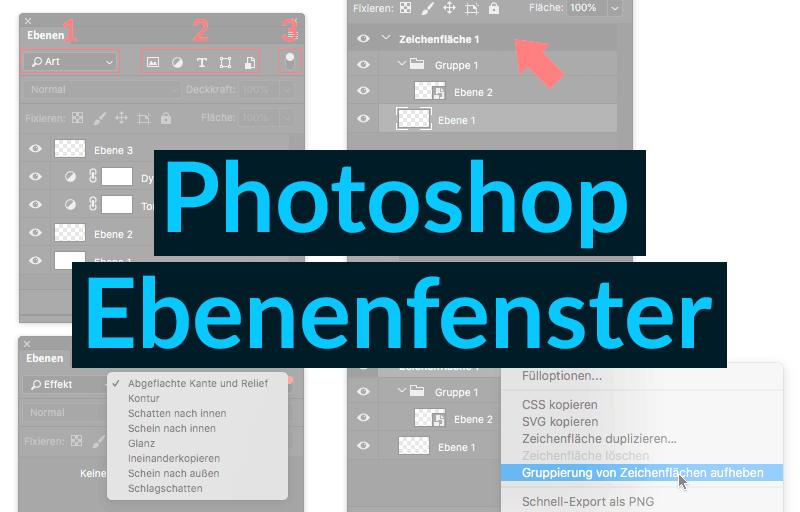 Photoshop Ebenenfenster Titelbild